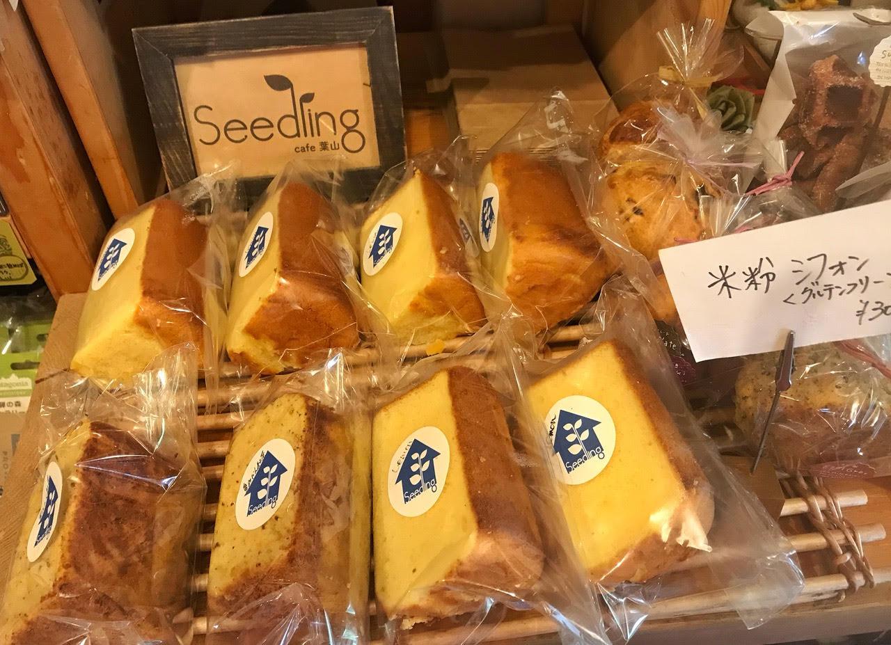 seedling cafeで人気の米粉ケーキ。お土産にもおすすめ