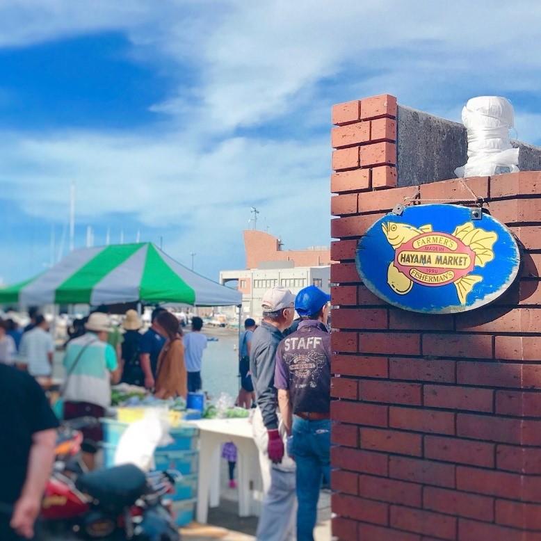 葉山マーケット日曜朝市の入口