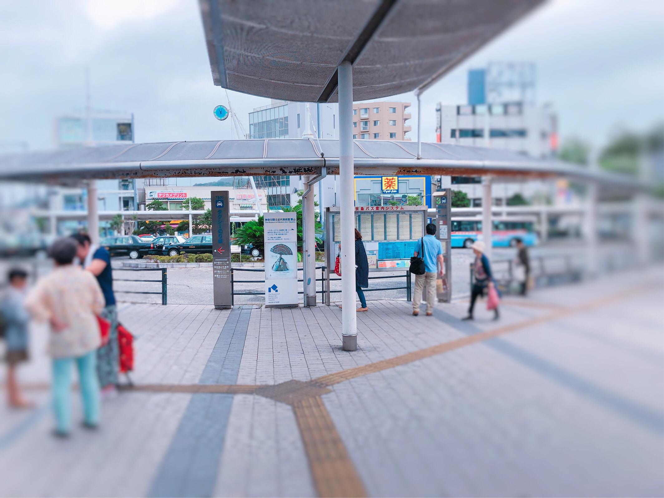 逗子駅、バスターミナル