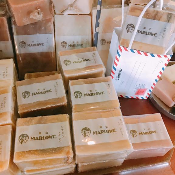 マーロウで販売している自然素材で作った石鹸。