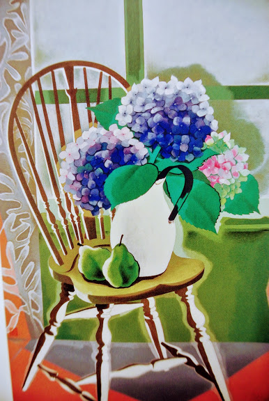 山口蓬春の作品、榻上の花
