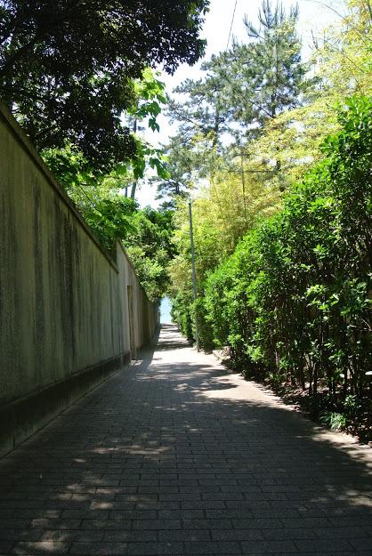 しおさい公園と近代美術館の間の小道
