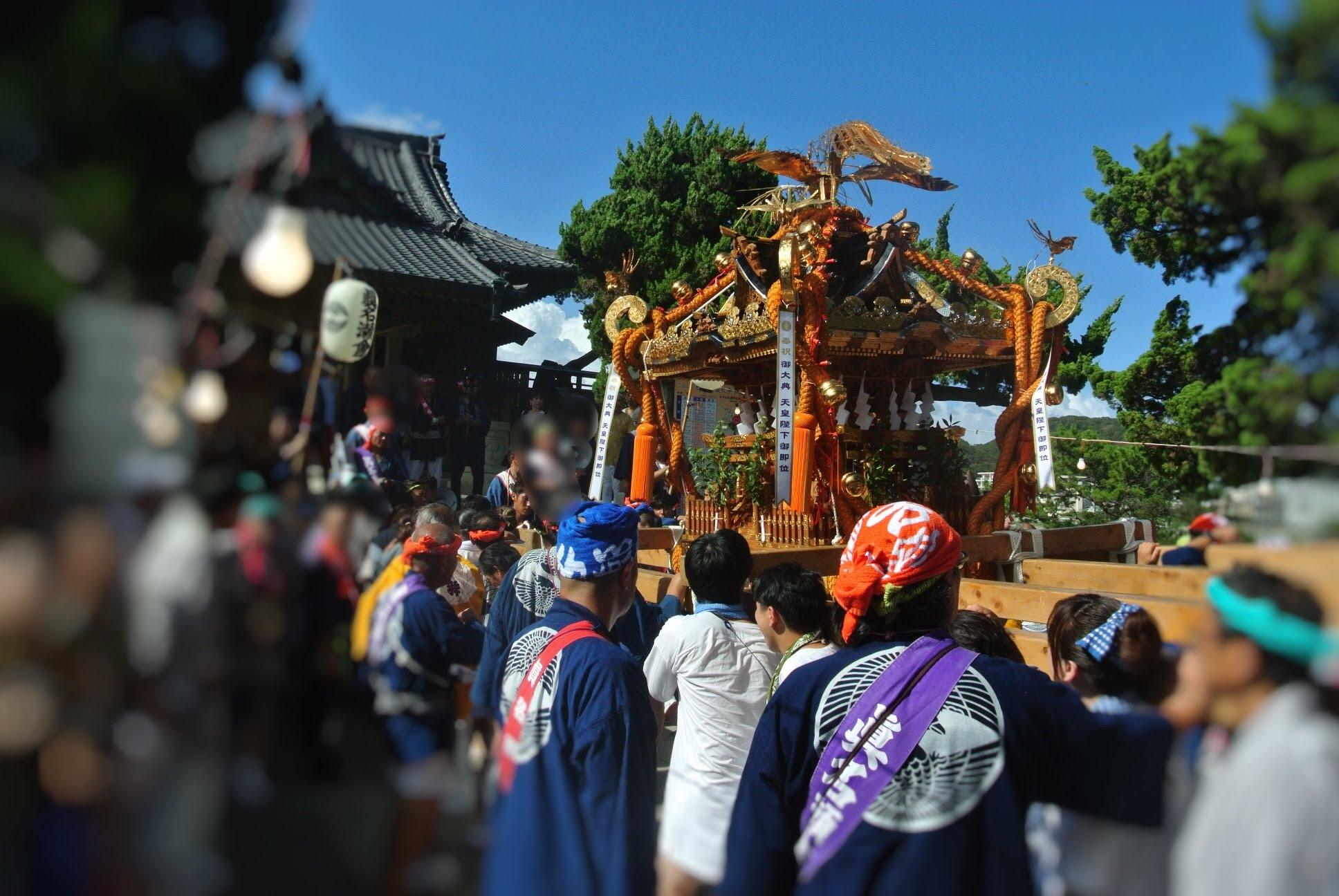 2019年葉山・森戸神社の例大祭。