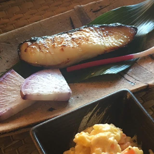 銀鱈の西京焼きランチ